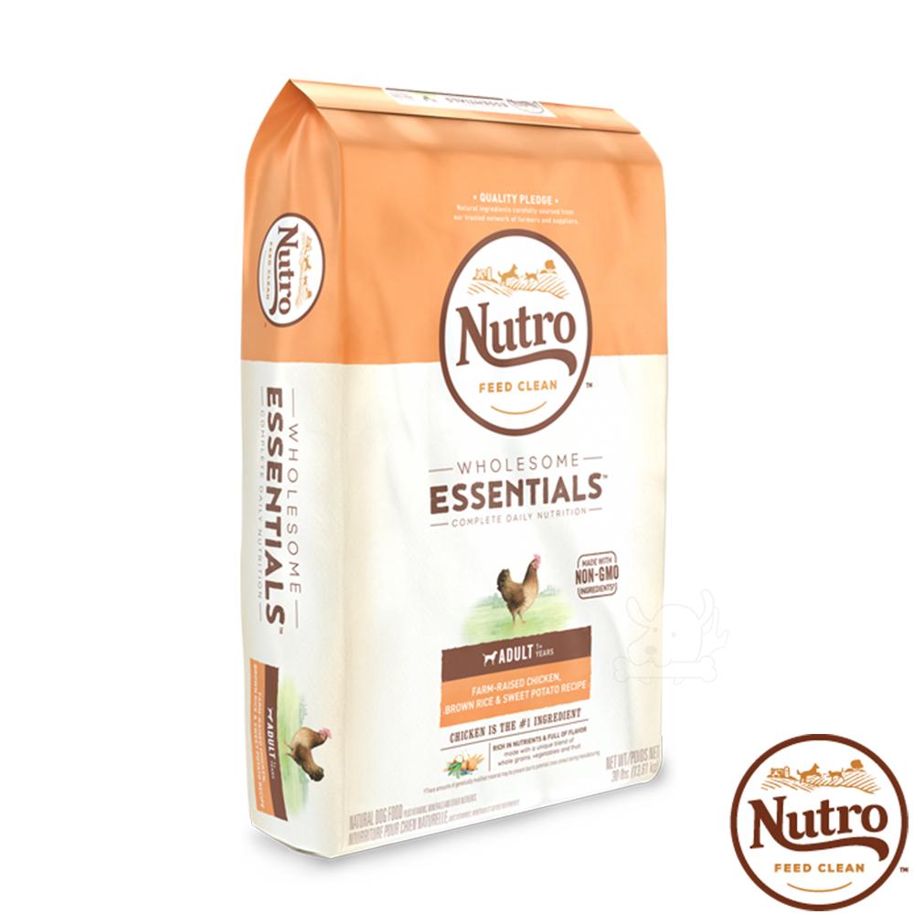 【Nutro 美士】全護營養 成犬(農場鮮雞+糙米+地瓜)30磅 X1包