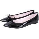 Repetto Brigitte 漆皮蝴蝶結尖頭平底鞋(黑色)