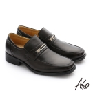 A.S.O 頂級氣墊鞋 羊皮直套式奈米氣墊皮鞋 咖啡色