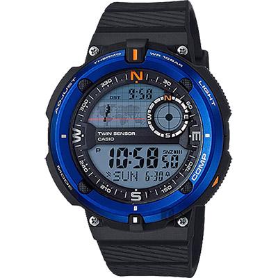 CASIO 卡西歐 SPORTS GEAR 戶外運動錶-藍圈/50.6mm