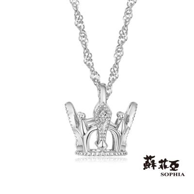蘇菲亞SOPHIA 鑽鍊 - 皇冠造型鑽石項鍊(共兩色)