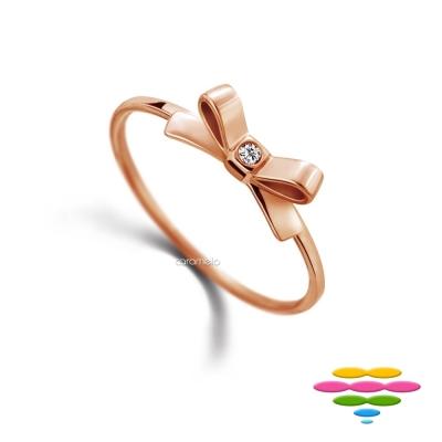 彩糖鑽工坊 蝴蝶結鑽石戒指/鑽戒 小確幸系列