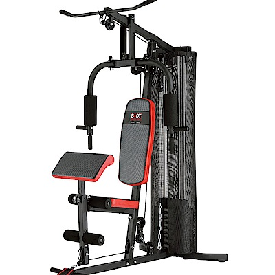 【BODY SCULPTURE】配重片150磅綜合重量訓練機(附護網+二頭肌板)