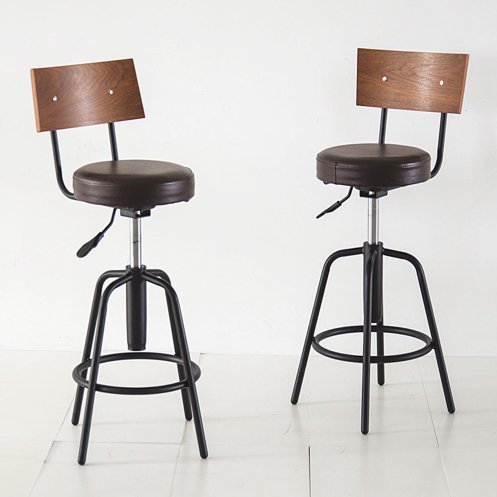 完美主義 英倫工業風升降吧檯椅/餐椅/辦公椅-31X30X93.5cm