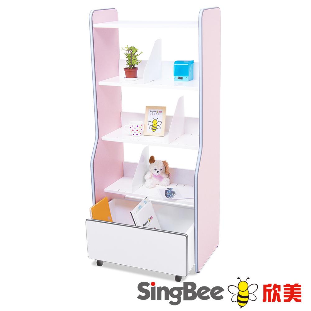 SingBee欣美 分層收納書架組(二色)-68x40x150cm