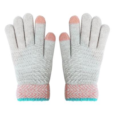 LAQ DESiGN 2TIPS 菱形波紋二指觸控手套