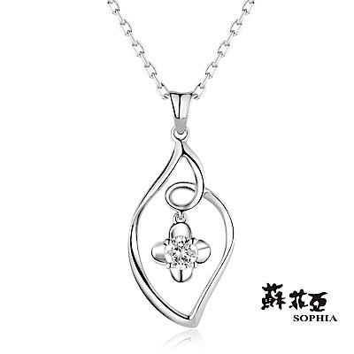 蘇菲亞SOPHIA 鑽鍊-花漾0.20克拉鑽石項鍊