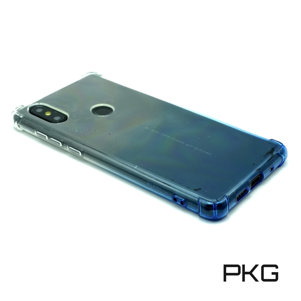 PKG 小米Mix2S 抗震防摔保護殼(四邊加強防摔+漸層系列)