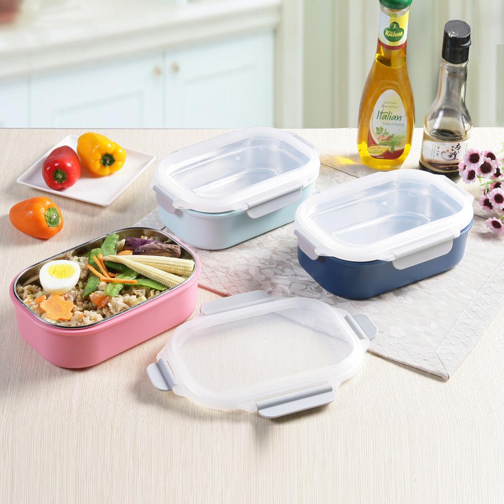 創意達人xUdlife藏鮮第二代方形保鮮隔熱環保餐盒3入組