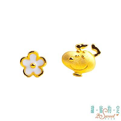 甜蜜約定2SWEET 心花朵朵史努比Snoopy黃金耳環