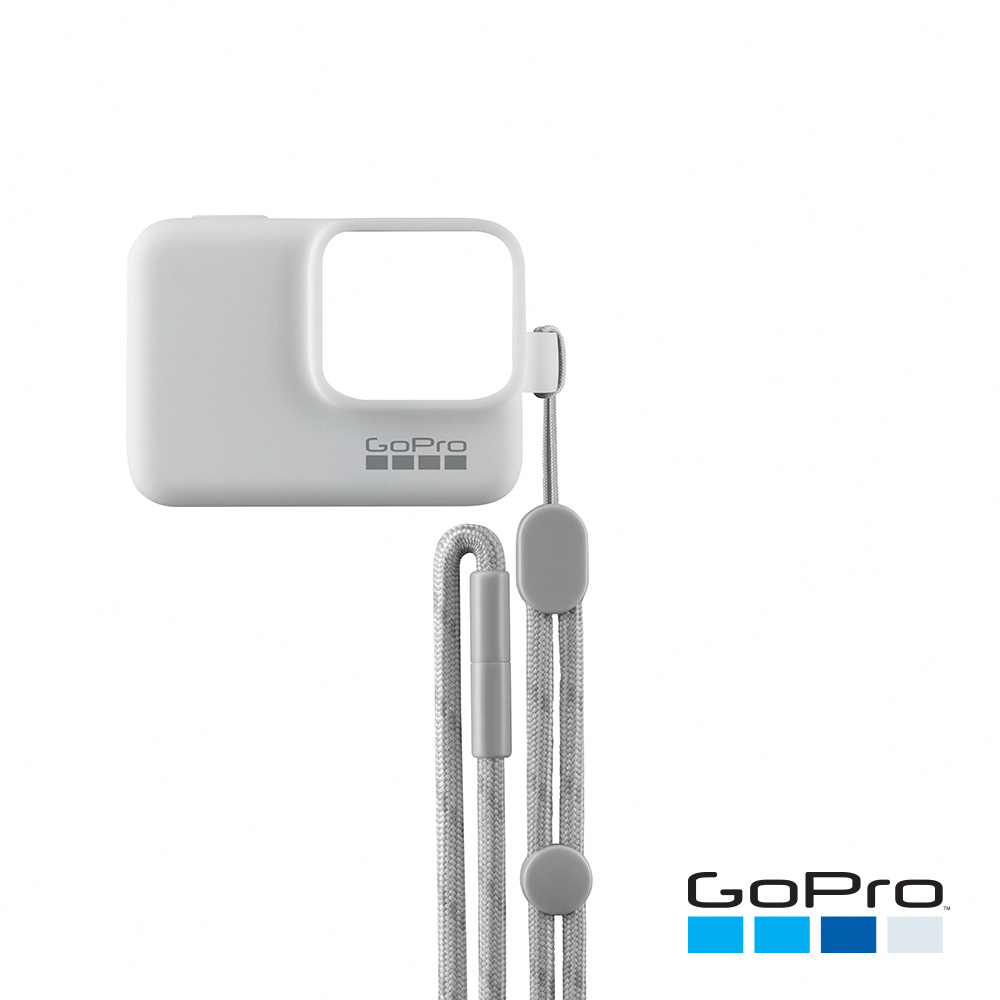 GoPro-HERO5/6/7Black專用矽膠護套+繫繩 白色ACSST-002