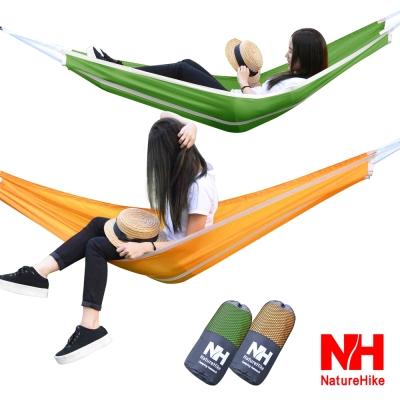 Naturehike 戶外降落傘布輕量單人吊床 綠色-急