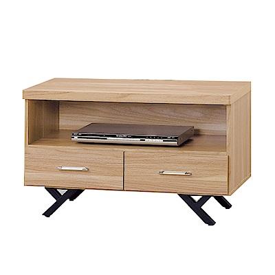 品家居 柏莫萊2.8尺橡木紋長櫃/電視櫃-83x40x52cm免組