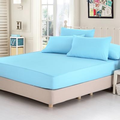 精靈工廠 看護級100%防水透氣床包式保潔墊-雙人
