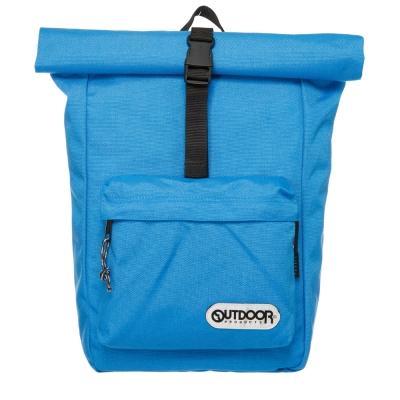 OUTDOOR 繽紛原色捲蓋後背包-淺藍OD151101BL