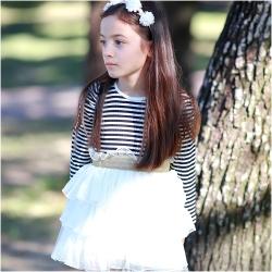 baby童衣 女童洋裝 條紋多層紗紗裙 連身裙37194