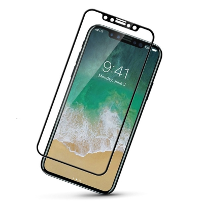 iPhone X滿版全覆蓋大角度弧邊5D鋼化玻璃膜