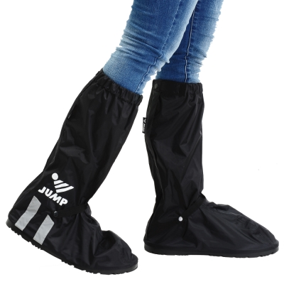 JUMP 尼龍反光厚底防水雨鞋套 L005C(S~3XL)-快