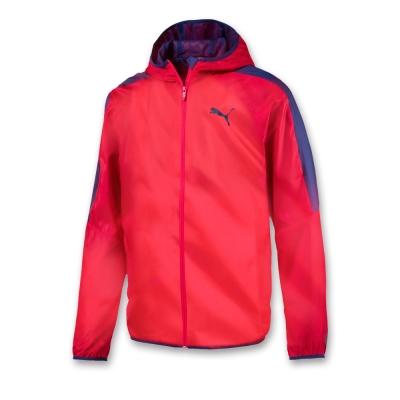 PUMA-男性基本系列素色風衣外套-緞帶紅-亞規