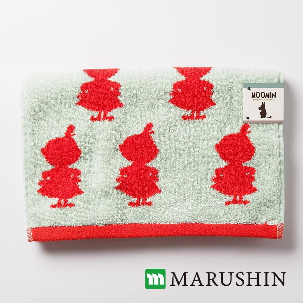 日本丸真 Moomin剪影高質感重磅毛巾-小不點