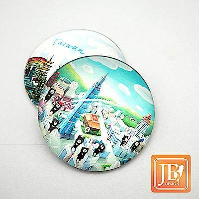 JB DESIGN-文創玻璃磁鐵-723_熊愛奔跑