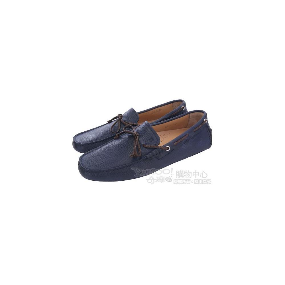 BALLY 深藍色綁帶牛皮休閒鞋