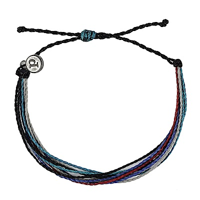 Pura Vida 美國手工 藍色多瑙河基本繽紛款 可調式手鍊衝浪海灘防水手繩