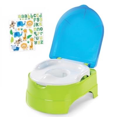 美國 Summer Infant 3合1兒童馬桶練習組 - 藍綠