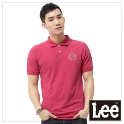 Lee  短袖POLO衫-男款-桃紅