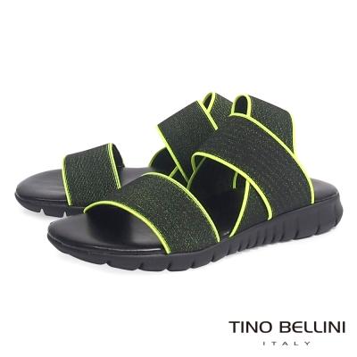 Tino Bellini 義大利進口炫彩螢光繃帶休閒平底涼鞋_螢光綠