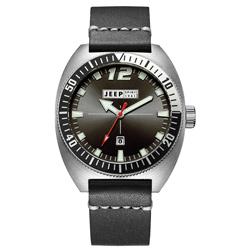 Jeep Spirit 美國指標美式復古風腕錶-銀X黑色/47mm