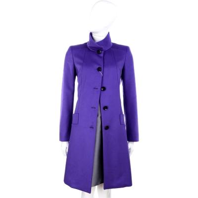 MARELLA 立體剪裁排釦大衣外套(紫色)