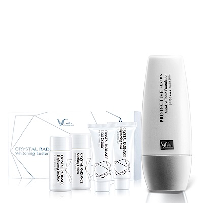 佐登妮絲 SPF20+超防禦UV潤色妝前乳30ml+晶淬雪柔白光綻組