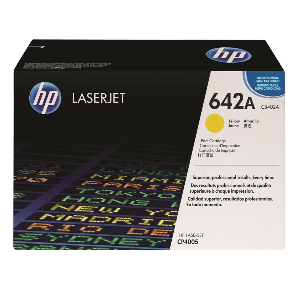 HP CB402A原廠黃色碳粉匣
