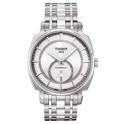 TISSOT T-Lord 獨立小秒針機械腕錶-銀/40mm
