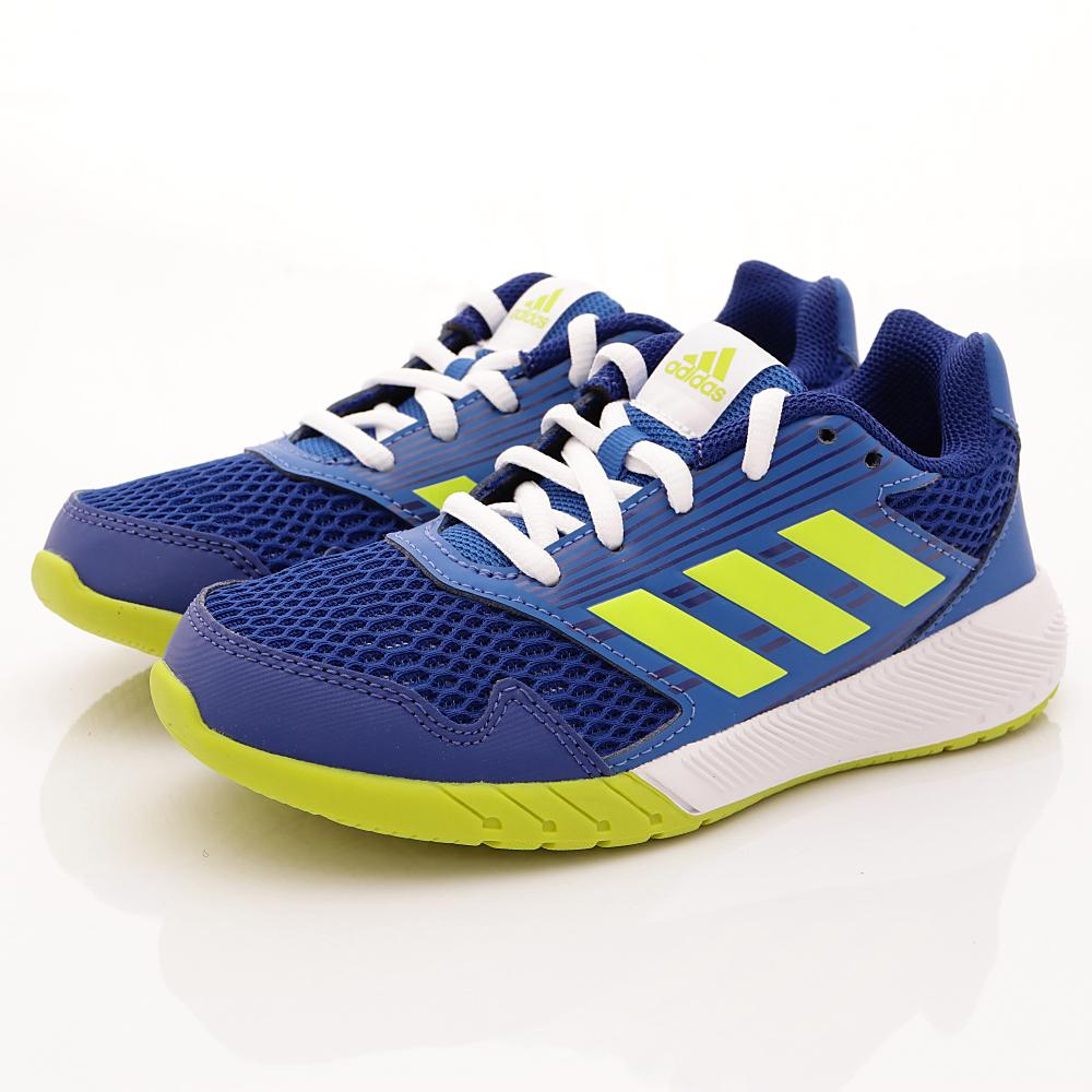 adidas童鞋 透氣慢跑款 EI1068 藍 (中大童段)T#19.5cm