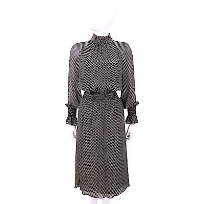 TORY BURCH Colette 愛心印花黑色絲質洋裝