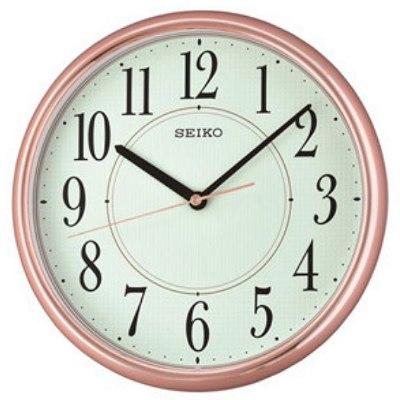 SEIKO 精工 靜音掛鐘 時鐘 QXA671P 玫瑰金 28cm