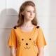 羅絲美睡衣 - 奶油小獅短袖洋裝睡衣(活力橘) product thumbnail 1