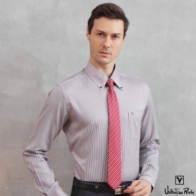 范倫鐵諾-路迪長袖襯衫-藍紅色-釘釦領