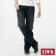 EDWIN XV歷史刻痕皮繩拉鍊直筒牛仔褲-