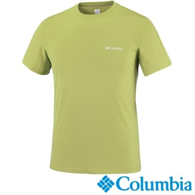 【Columbia哥倫比亞】男-酷涼快排防曬30短袖上衣-綠 UAE60840AP
