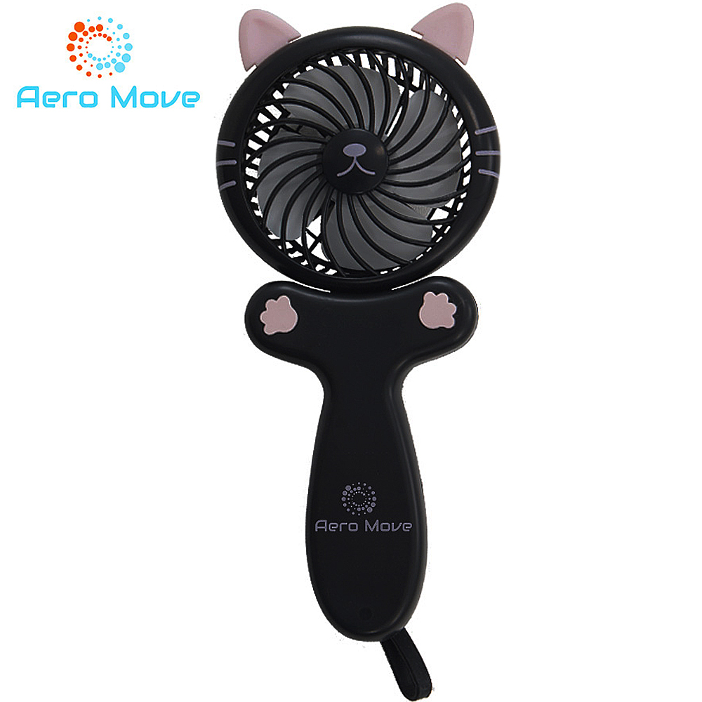 Aero Move 可愛萌貓造型隨身折疊風扇(黑貓款)