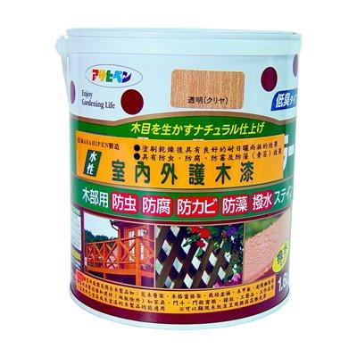 日本製室內/庭院防蟲防腐護木漆1.6L