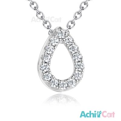 AchiCat 925純銀項鍊 完美淚滴 鎖骨鍊
