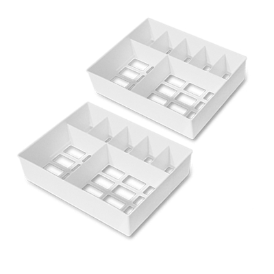 好整理衣物抽屜收納盒 -S (7格x2入) WallyFun