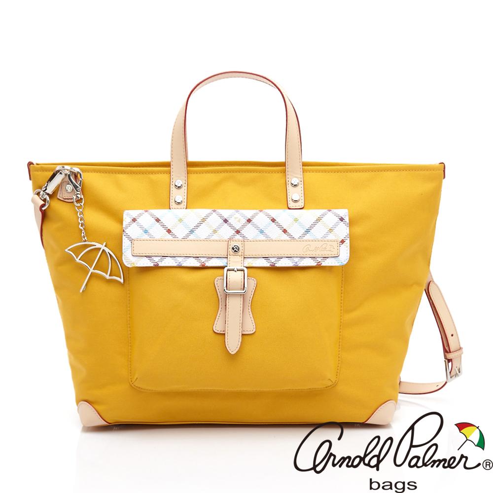 Arnold Palmer雨傘 - 回歸原點系列 - 兩用手提斜背包/購物袋 - 黃色
