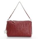 LouiseC. 優雅時尚羊皮編織鍊帶小包-紅色-05L05-0031A01