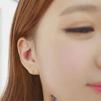Hera 赫拉 鈦鋼 迷你鋯石水滴耳釘-單顆