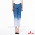 BRAPPERS 女款 新美腳Royal系列-女用中低腰漸層八分褲-漸層藍